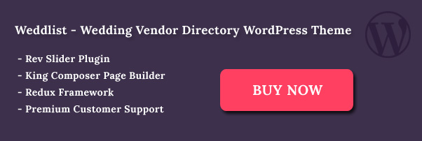 Weddlist Vendor Directory WordPress Theme
